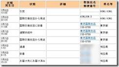 郵便事業会社追跡サービス画面